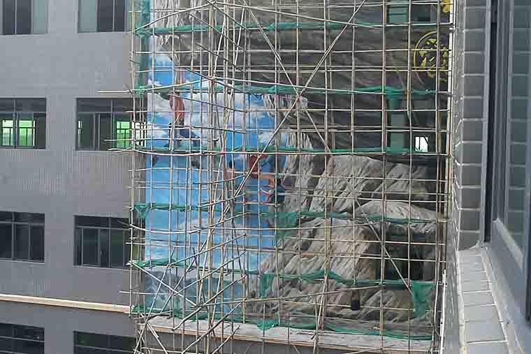 广州花都鞋厂外墙绘彩绘
