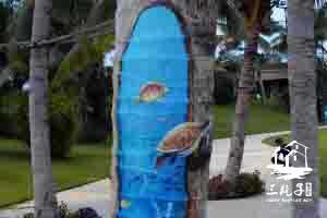 2016年雅居乐清水湾 涂鸦树墙绘彩绘