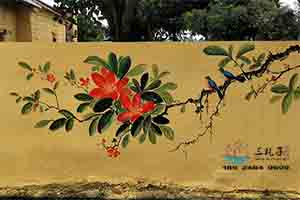 湛江遂溪文化墙彩绘  一