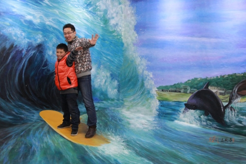 南京冲浪  墙绘彩绘