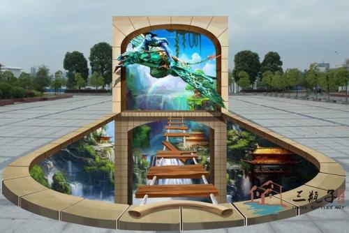 广州3D立体画——悬崖