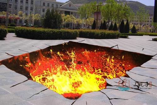 火坑  墙绘彩绘