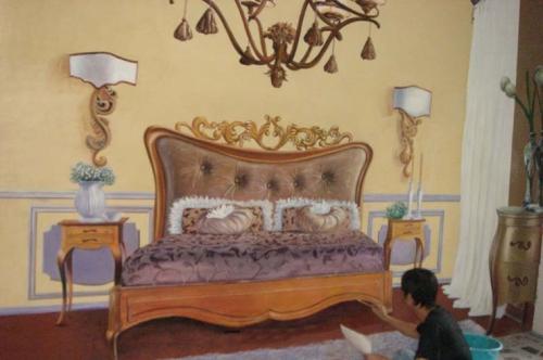 保利地产样板房  墙绘彩绘