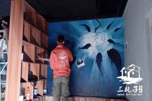 柠檬鱼墙绘彩绘  广州增城店