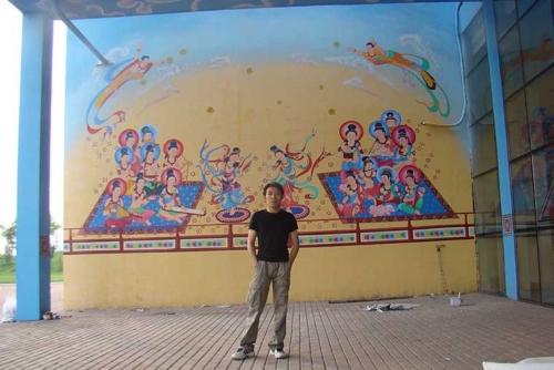 北京中弘非中心房地产售楼部内墙