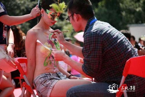 南京首届网友节人体彩绘
