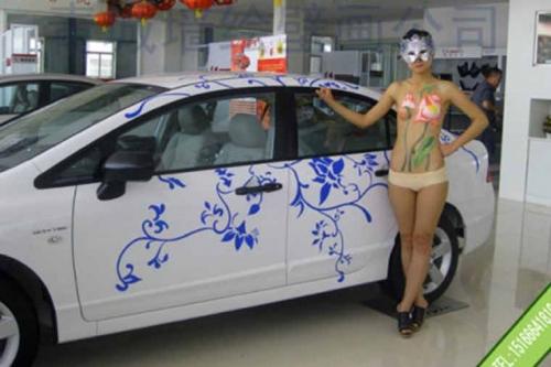 临沂日产人体彩绘车体彩绘