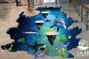 和信广场大型3D画4墙绘彩绘