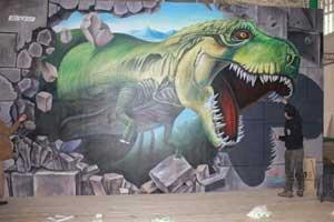 恐龙 墙绘彩绘