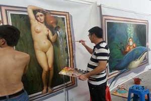 人体画 彩绘