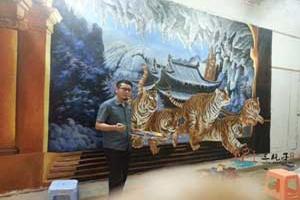江西三清山 墙绘彩绘