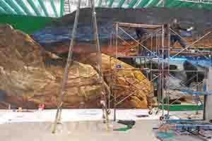 天津自由鸟展会墙绘彩绘