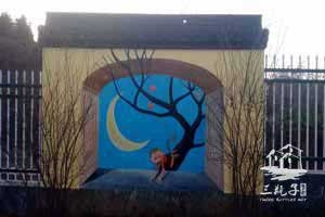 婺源第二幼儿园3D画手绘1墙绘彩绘