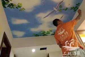 佛山和慕会所1墙绘彩绘
