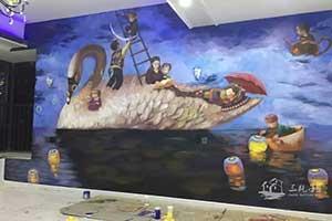 儿童房墙绘彩绘