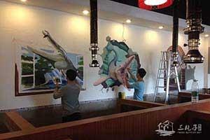北京餐厅墙绘彩绘