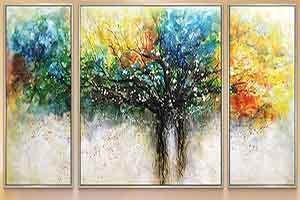 彩绘装饰画 纳兰树