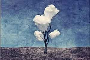 彩绘装饰画 云树
