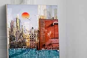 彩绘装饰画 城市印象