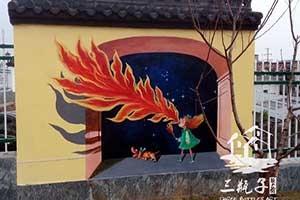 婺源第二幼儿园3D画手绘墙绘彩绘2