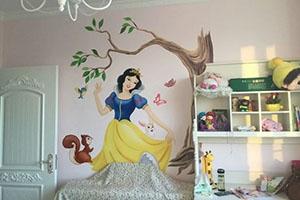 迪斯尼公主  墙绘彩绘