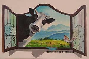云浮蓝天幼儿园3D画墙绘彩绘