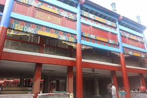 珠海文化馆古建筑彩绘