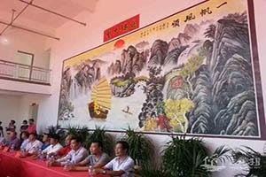 湛江那澳戏楼墙绘彩绘
