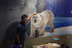 深圳北极餐厅墙体彩绘