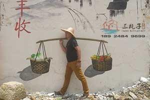恩平文化墙彩绘3D墙绘