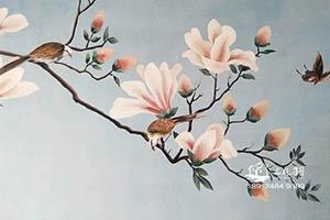 背景墙绘彩绘  艺术彩绘
